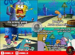 Meme spongebob mobile legend