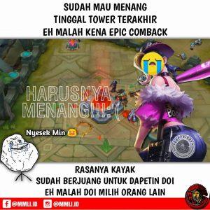 Meme mobile legend epic comeback