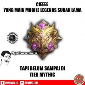 Meme mobile legend belum sampai mythic