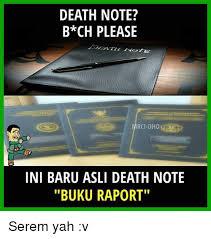 meme anime pembagian raport death note