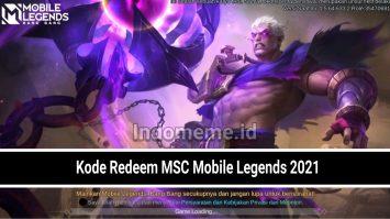 Kode Redeem MSC Mobile Legends 2021