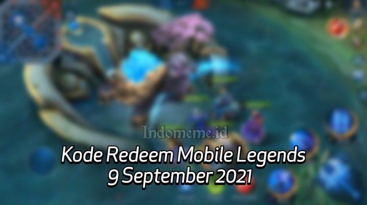 Kode Redeem ML 9 September 2021