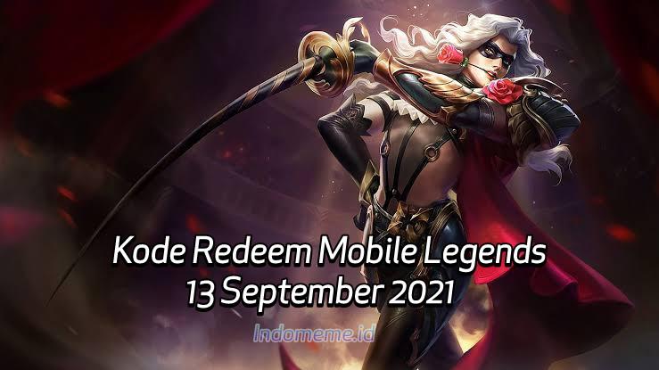 Kode Redeem ML 13 September 2021