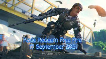 Kode Redeem FF 17 September 2021