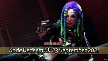 Kode Redeem FF 23 September 2021