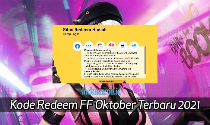 Kode RedeemFF 4 Oktober 2021
