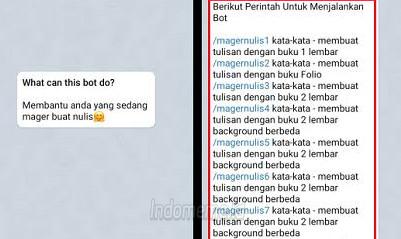 BOTNulisOnline Telegram