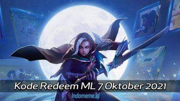 KodeRedeemML 7 Oktober 2021
