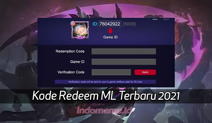 KodeRedeemML 9 Oktober 2021